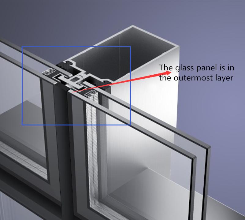 Hidden Framing Glass Curtain Wall