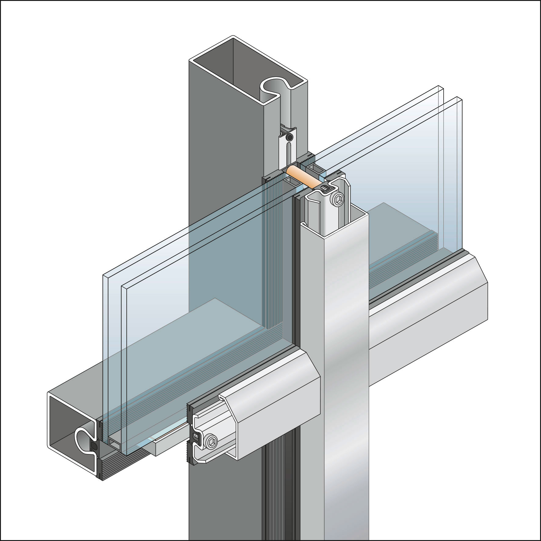 Thermal Unitized Curtain Wall System